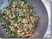 chickpea and sundried tomato salad