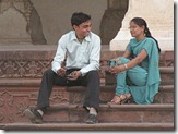 indian couple talking